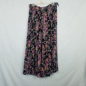 Vintage | Purple Floral Maxi Skirt